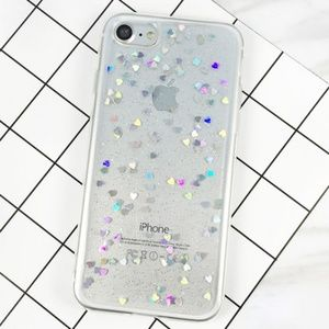 NEW iPhone 6/7/8 Clear Floating Hearts Case